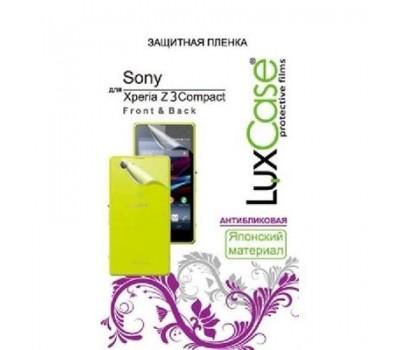 Защитная пленка LuxCase для Sony Xperia Z3 Compact (фронтальная + тыловая), антибликовая