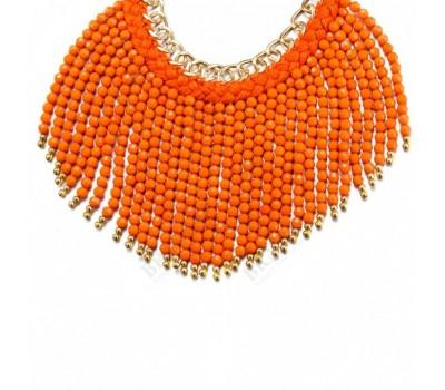 Колье «БОХО» оранжевый (#48)