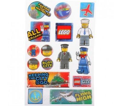 Lego. Набор наклеек (21618), Сity