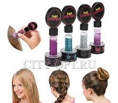 TV-226 Рисунок для волос Hot stamps hair glitter