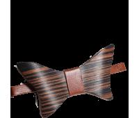 Бабочка с натурального шпона с кожаным ремешком