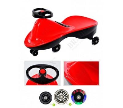 Машинка детская с полиуретановыми колесами «БИБИКАР СПОРТ» красный (Bibicar, red colour)