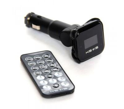 Автомобильный FM-модулятор/MP3-проигрыватель KS–IS Mazzy (KS-161), 4 GB, Встроенная батарея 300мА/час, встроенное USB зарядное устройство для цифровой техники, Черный