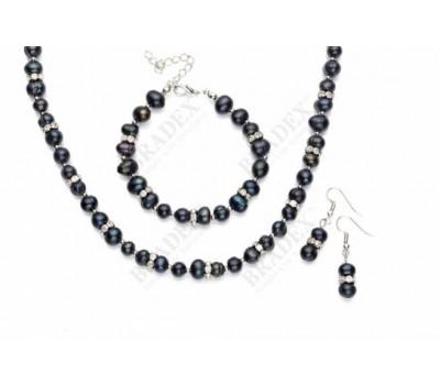 Комплект «ТАЙНА МОРЯ» (Set: necklace, earrings and bracelet ST140064)
