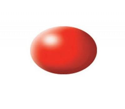Аква-краска светящаяся красная шелково-матовая