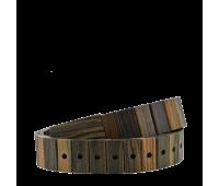 Уникальный ремень Bewell изготовленный вручную из ценной породы зебрано и клёна