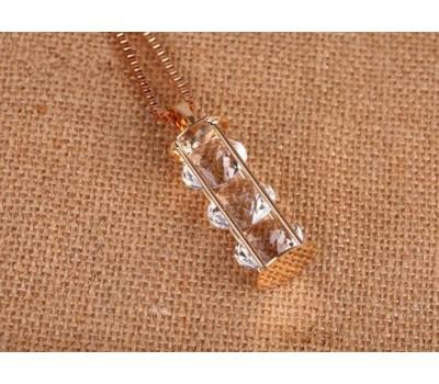 Колье «ВОЛШЕБНАЯ БУТЫЛОЧКА» цвет серебряный (#13)