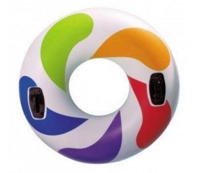 Круг Цветной Водоворот с ручками для детей 122см