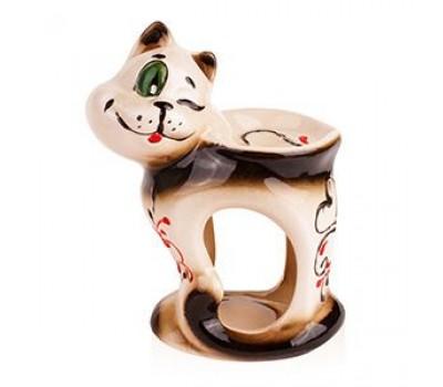 """Аромалампа """"Кот с сердечком"""", керамика, 11х15 см (кор 72 шт)"""