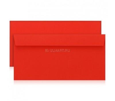 конверт Е65, красный, стрип, офсет, 120гр, 50 шт [106А.50]