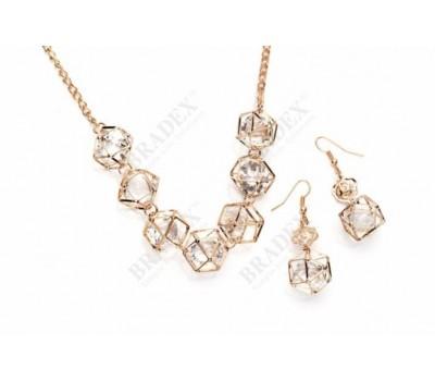 Комплект «ХРУСТАЛЬНАЯ МЕЧТА» (Set: necklace with earrings ST150034)