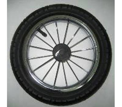 КОЛЕСО для коляски, шина, метал.хромир.диск, (с торм.шест.) арт. 300300Ш