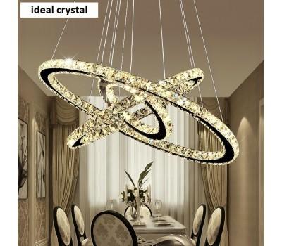Люстра - потолочный светодиодный светильник с пультом - Хрусталь Ideal Crystal 50372/3