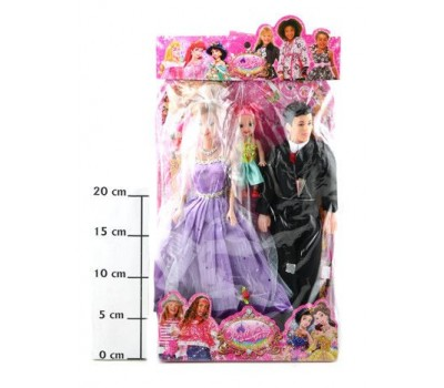 Куклы Счастливая семья РАС 37*21*4см (Кукла, Кен, пупс), арт. 83010
