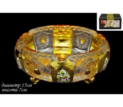 588-052 Конфетница 15см GOLDENв под.упак (х24) Стекло