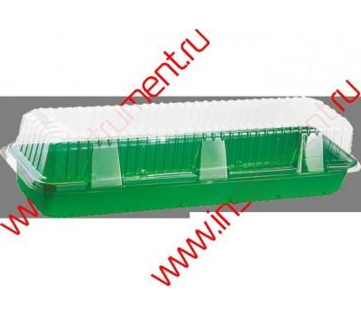 Мини-парник для рассады,15х58х6см,с крыш,под 3кассеты 64308/64309,полистирол к-т из 2част.