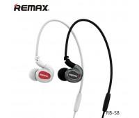 Наушники беспроводные Remax RB-S8 Sporty Earphone, черный, c микрофоном