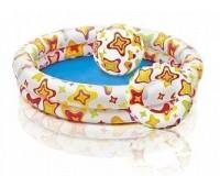 59460 INTEX Бассейн пузыри с мячом и кругом, размер 122х25 см, мяч, круг (диаметр 51 см). Рисунки в ассортименте