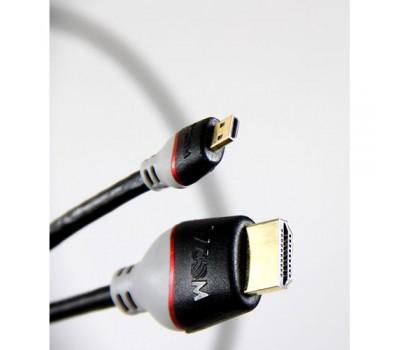 Кабель HDMI (M) -> micro HDMI (M), 1.2m, VCOM (CG586-1.2M), позолоченные контакты