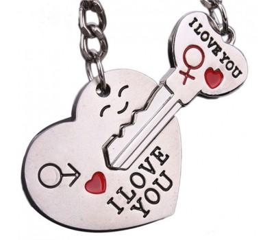 Автомобиль новый пара я люблю тебя в форме сердца брелок кольцо ключей любовник романтический