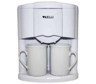Кофеварка KELLI KL-1491 (2 чашки) 650Вт
