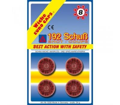 8-зарядные пистоны, 192 шт, блистер упаковка-карта