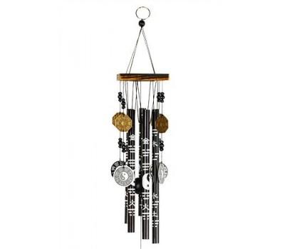 """Колокольчики ветра """"Инь-Ян"""", 56 см, металл, бамбук"""