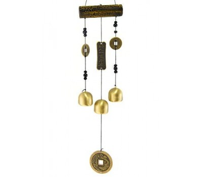 "Колокольчики ветра ""Китай"", бамбук, металл, 38 см"