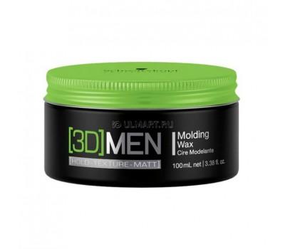 воск для укладки волос Schwarzkopf Professional [3D]Men Mplding Wax, 100 мл, формирующий [1857193] [4045787263770]