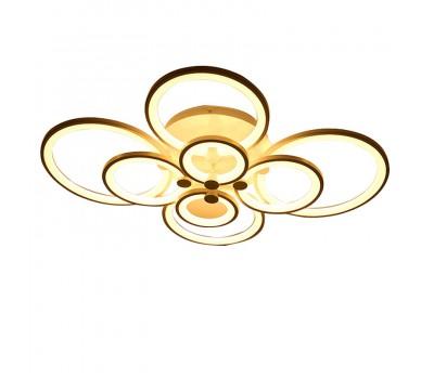 Люстра светильник потолочный - с пультом 8 колец