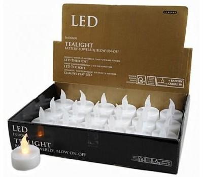 ЗАДУВАЕМАЯ пластиковая свеча LED, KAEMINGK (цена указана за 1 шт.)