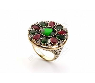 Кольцо «АННАБЕЛЬ» размер 17 (Ring with crystals, size 17)