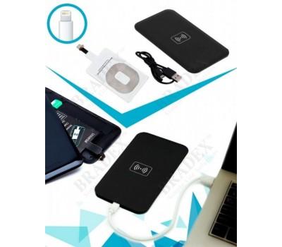 Аккумулятор беспроводной круглый для смартфонов с Lightning разъемом, белый (Wireless portable accumulator (round) Lightning, white)