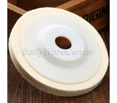 1 Шт. 4 Inch Диаметром 100 мм Круглый Колеса Полировки Шерстяного Войлока Полировка Полировальных Pad Pearl Ткань для Полировки Колеса Абразивный инструмент Для Автомобилей Стайлинг