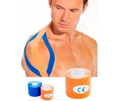Кинезио лента 5 м*5 см, оранжевая (Physio Tape, orange)