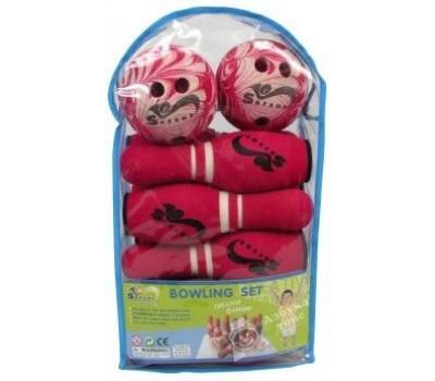 JBB-07-2(В) Игра боулинг в сумке (10 кеглей Н300мм., 2 мяча)