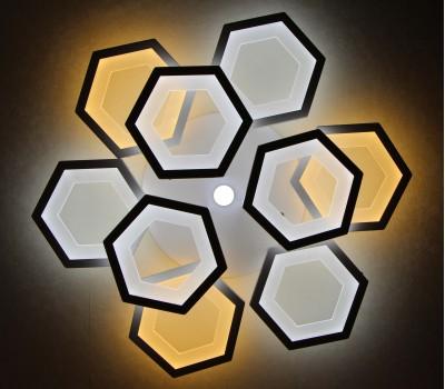 Люстра светильник потолочный с пультом Honeycomb LED