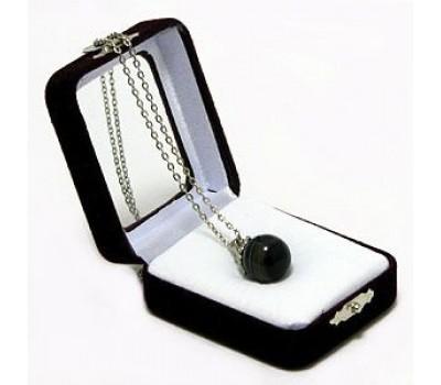 "Аромакулон ""Фантазия"", камень - агат, на цепочке, в подарочной упаковке 6х5 см"