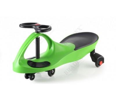 """DE 0042 Машинка детская, """"БИБИКАР"""" с полиуретановыми колесами, зеленая"""