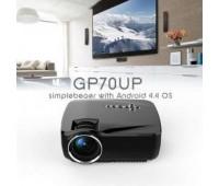 Мультимедийный проектор LED GP70UP (GP70W) с Wi-Fi Android (AV / VGA / SD / USB / HDMI)