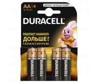 "Набор алкалиновых батареек ""Duracell"", тип AA, 4 шт"
