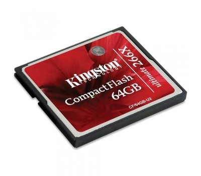 Карта памяти 64Gb Compact Flash Kingston Ultimate 266X (CF/64GB-U2), RTL