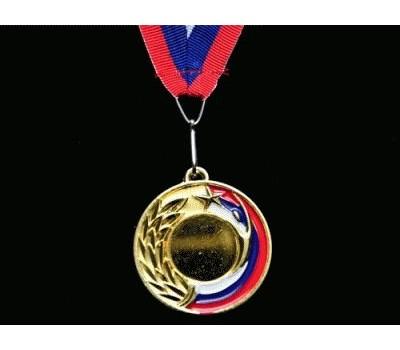 Медаль наградная с лентой, d - 65мм ЗОЛОТО 5201-17 МАГДАЛЕНА