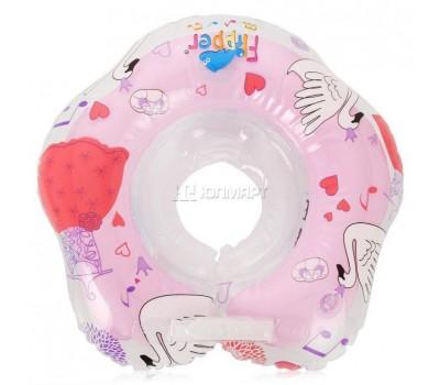Круг Flipper Swan Lake Мusic музыкальный для купания малышей розовый (FL005)