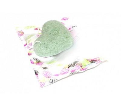 Губка-спонж «КОННЯКУ» с экстрактом зеленого чая (Konjac face sponge with GREEN TEA EXTRACTS)