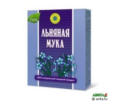 Мука льняная 300 гр. коробка (от глистов,липидный обмен ,чистка кишечника)