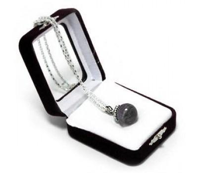 "Аромакулон ""Фантазия"", камень - аметист, на цепочке, в подарочной упаковке, 6х5 см"