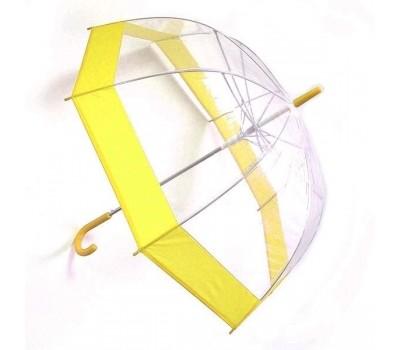 Зонт прозрачный купол, желтый