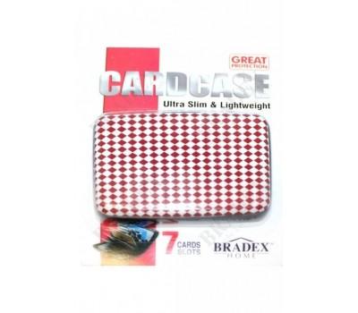 Кошелек алюминиевый «МУЛЬТИКАРД» красный ромб (Cardcase)