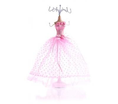 Держатель для бижутерии, 37 см, розовый